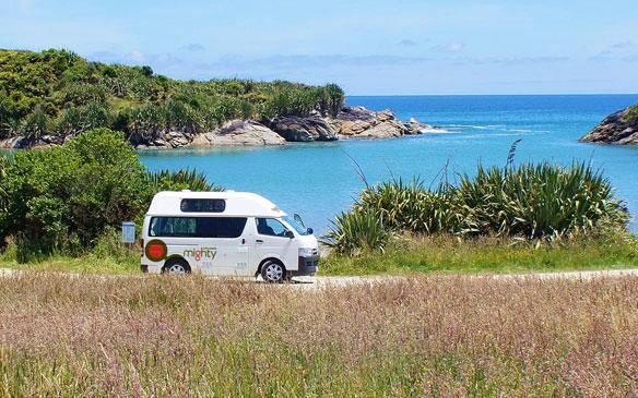 Mighty camper huren in Nieuw-Zeeland