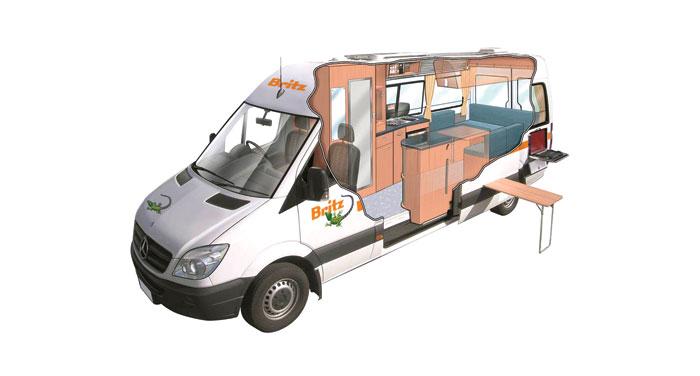Britz Venturer camper huren in Australië