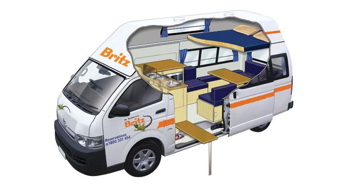 Britz Voyager camper huren in Australië